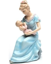 CosmosGifts Decorative Mom Holding a Baby Girl Musical Box 80055