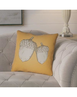 "August Grove Adrian Indoor/Outdoor Throw Pillow ATGR3795 Size: 20"" H x 20"" W x 4"" D Color: Orange/Gray"
