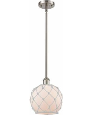Innovations Lighting Bruno Marashlian Farmhouse Rope 8 Inch Large Pendant - 516-1S-SN-G121-8RW