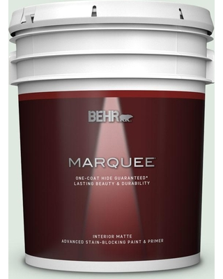 BEHR MARQUEE 5 gal. #470E-2 Water Mark Matte Interior Paint and Primer in One