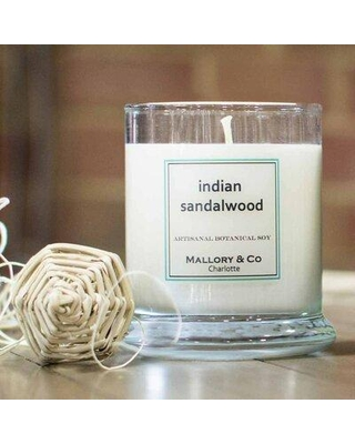 Mallory Candle Co Indian Sandalwood Scented Jar Candle 646223642322