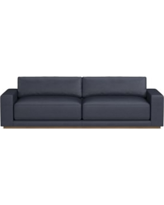 Admirable Berkshire 110 Sofa Down Cushion Como Leather Blue Truffle From Williams Sonoma People Ncnpc Chair Design For Home Ncnpcorg
