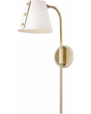 Mitzi Meta 22 Inch LED Wall Sconce - HL174201-AGB-WH