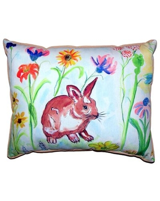 Whiskers Bunny Indoor/Outdoor Lumbar Pillow Betsy Drake Interiors Size: Extra Large