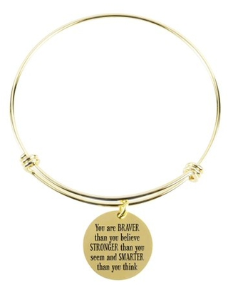 Solid Stainless Steel Multi Wrap Bangle - You Are Braver