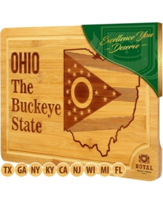 Royal Craft Wood State Cutting Board For Kitchen Ohio Cheese Board Charcuterie Platter and Serving Tray