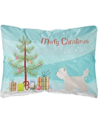The Holiday Aisle Melra Westie Christmas Indoor/Outdoor Throw Pillow BI148693