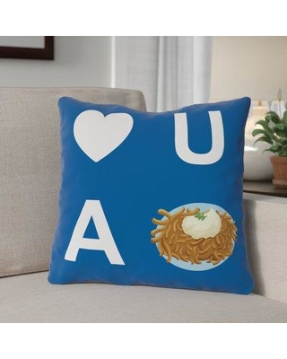 """The Holiday Aisle Heart U A Latke Throw Pillow THLY3292 Size: 18"""" x 18"""""""