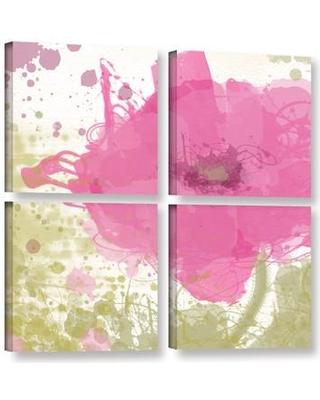 Big Deal On Latitude Run Modern Pink 4 Piece Painting Print On Wrapped Canvas Set Canvas Fabric In Brown Pink Size 48 H X 48 W X 2 D Wayfair