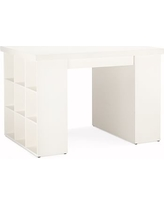 Bedford Project Table, includes two 3 x 3 Bookcases & one Tabletop, Antique White