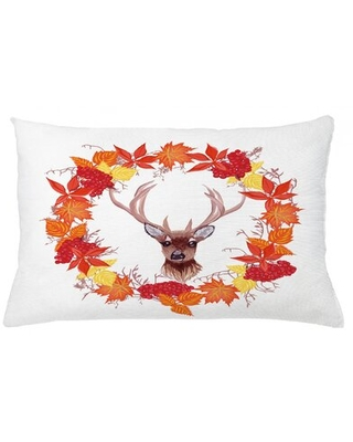 "Fall Indoor / Outdoor Lumbar Pillow Cover East Urban Home Size: 16"" x 26"""