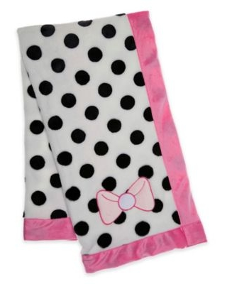 Baby Lounge Polka Dotted Embroidered Swaddle Blanket