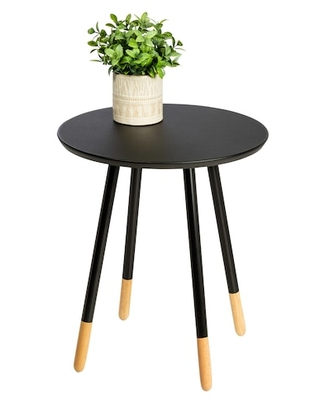 Honey Can Do Black Round End Table   Michaels®