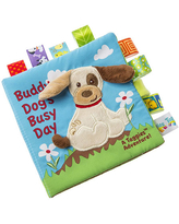 Taggies Soft Book - Buddy Dog - Baby Toys & Gifts for Babies - Fat Brain Toys