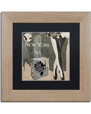 """Trademark Fine Art 'New York Style II' by Color Bakery Framed Graphic Art ALI4095-T1 Size: 11"""" H x 11"""" W x 0.5"""" D Matte Color: Black"""
