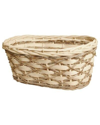 "Union Rustic Oval Woodchip Willow & Vine Planter (Set of 2) W001748267 Size: 5.75"" H x 13.5"" W x 7.5"" D"