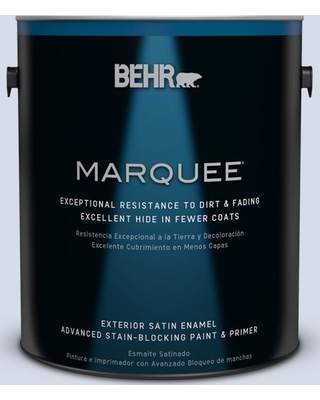 BEHR MARQUEE 1 gal. #590E-2 Snow Ballet Satin Enamel Exterior Paint and Primer in One