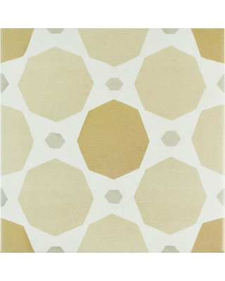 Merola Tile Caprice Pastel Topaz Encaustic 7-7/8 in. x 7-7/8 in. Porcelain Floor and Wall Tile (11.46 sq. ft. / case), Topaz / Low Sheen