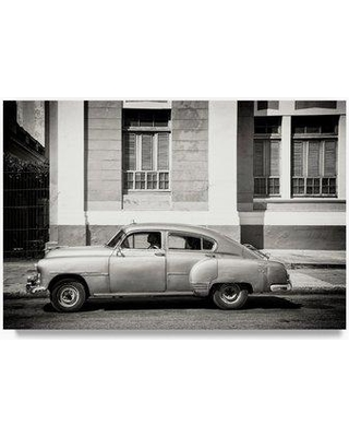 "Trademark Art 'Cuban Taxi 1' Photographic Print on Wrapped Canvas PH00850-C Size: 12"" H x 19"" W"