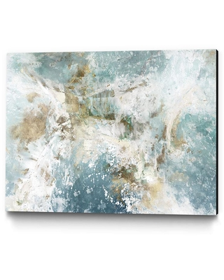 """Clicart 24 in. x 18 in. """"Waking Hour"""" by Elle Jacobs Wall Art, blue/ white"""