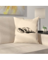 "East Urban Home Jetty Printables Illustrated Sea Shell 1 Throw Pillow EUHG3407 Size: 18"" x 18"""