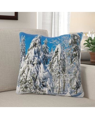 The Holiday Aisle Putman Wintry Indoor/Outdoor Canvas Throw Pillow W000116496