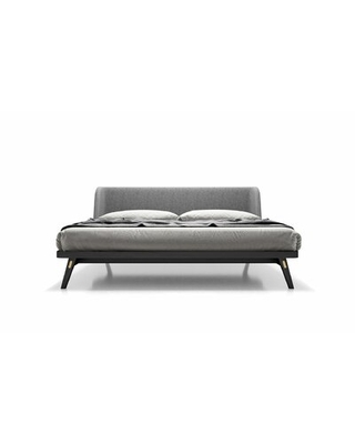Bentlee Solid Wood and Upholstered Bed