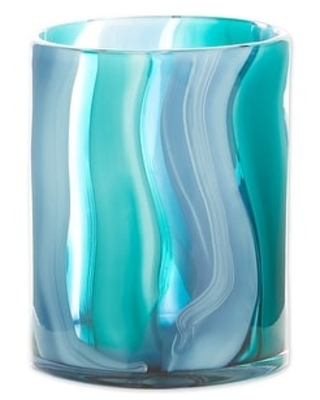 Blue Glass Vase (Small Blue)