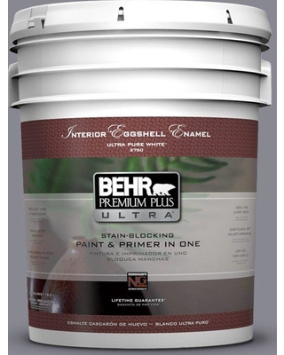 BEHR ULTRA 5 gal. #PPU16-15 Gray Heather Eggshell Enamel Interior Paint and Primer in One