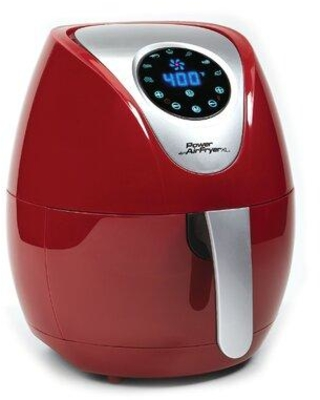 PowerXL 3.4 Quart Power Air Fryer PAFB-34 / PAFR-34 Finish: Red