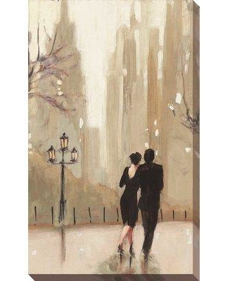 "Winston Porter 'An Evening out Neutral II' Acrylic Painting Print on Canvas BI137507 Size: 51.5"" H x 31.5"" W x 2"" D Format: Wrapped Canvas"