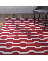 Wrought Studio Uresti Decorative Holiday Geometric Print Red Woven Indoor/Outdoor Area Rug VRKG4476 Rug Size: Rectangle 3' x 5'