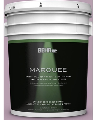 BEHR MARQUEE 5 gal. #S110-4 Highland Thistle Semi-Gloss Enamel Exterior Paint and Primer in One