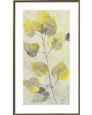 """East Urban Home 'Aspen Branch II' Print on Canvas EUHE1904 Size: 43.6"""" H x 25.6"""" W Format: Light Gray Framed Canvas Matte Color: White"""