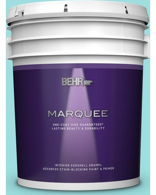 BEHR MARQUEE 5 gal. #P460-2 Tropical Waterfall Eggshell Enamel Interior Paint and Primer in One