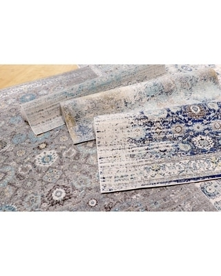 Pasargad Home Chelsea Design Machine Made/Power Loom Area Rug (4' x 6' - Navy)