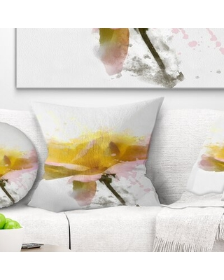 Floral Rose with Stem Pillow