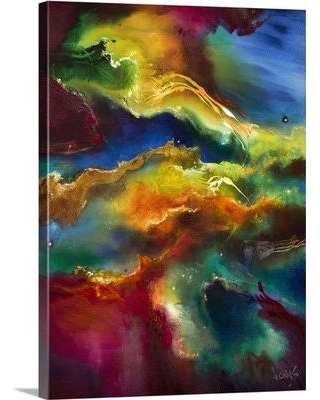 """Great Big Canvas 'Cosmic Voyage 202 by Jonas Gerard Graphic Art Print 1104788_MW Size: 48"""" H x 36"""" W x 1.5"""" D Format: Canvas"""
