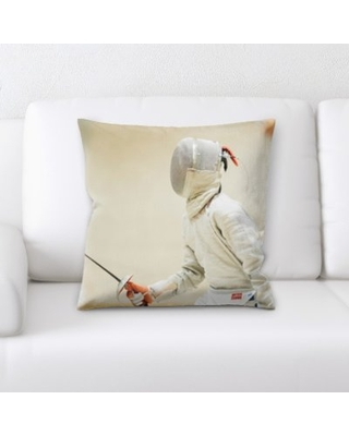Fencing Throw Pillow East Urban Home