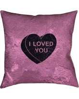 "Brayden Studio Enciso I Loved You Heart Graphic Double Sided Print Pillow BSTU2947 Color: Black, Size: 36"" x 36"""