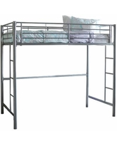 Pearson Twin Bunk Bed Over Loft, One Size , Gray