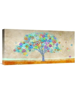 """East Urban Home 'Tree of Peace' Oil Painting Print URBR6900 Size: 12"""" H x 24"""" W Matte Color: No Matte Format: Unframed/Canvas"""