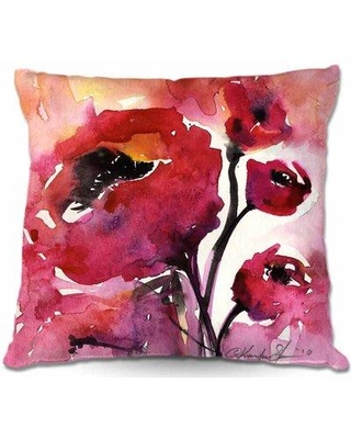 """Winston Porter Neal Couch Floral 17 Throw Pillow W001665112 Size: 16"""" x 16"""""""