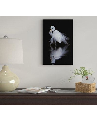"""East Urban Home 'Watching' by Ben Li Graphic Art Print on Wrapped Canvas EUME4505 Size: 18"""" H x 12"""" W x 0.75"""" D"""