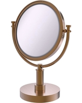 Allied Brass 8 in. x 15 in. Vanity Top Make-Up Mirror 2x Magnification in Brushed Bronze