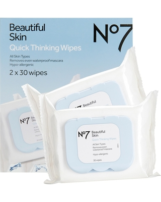 No7 Biodegradable Makeup Removing Wipes Dual Pack - 60ct