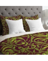 Deny Designs Wagner Campelo Lightweight Abstract Garden Duvet Cover 1351 Size: Queen, Color: Brown