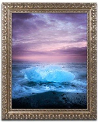"Trademark Fine Art Ice at Sunset by Philippe Sainte-Laudy Framed Photographic Print PSL0725-G1114F / PSL0725-G1620F Size: 20"" H x 16"" W x 0.5"" D"