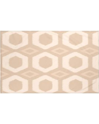 "e by design Hugs and Kisses Geometric Print Throw Blanket HGN219 Size: 60"" L x 50"" W Color: Sand (Taupe)"