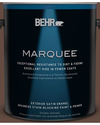 BEHR MARQUEE 1 gal. #QE-16 Earth Chicory Satin Enamel Exterior Paint and Primer in One